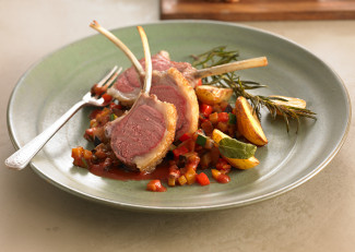 Rack of lamb with ratatouille